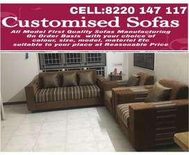 Brown based 5 seaters sofa