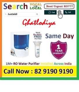 Ghatlodiya  RO Water Purifier Water Filter dth 9L bed L - car    Click