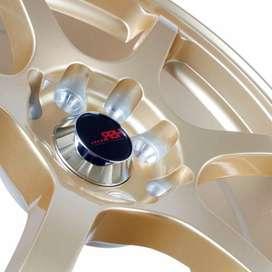 Harga Pelek Mobil - Velg HSR Misaki H208 Ring16 Gold 2