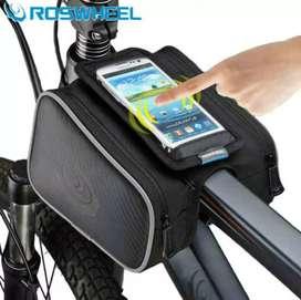 Tas Sepeda Roswheel Tas Barang Bike Bag Waterproof + Smartphine Case