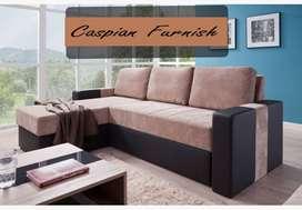 435 New compact L sofa