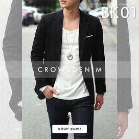 Blazer Pria Keren - Korean Style Blazer Single Button (BK-01)