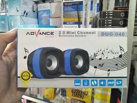 antar spiker/speaker laptop advance duo 040 2.0 mini usb cabel-stereo
