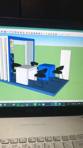 Jasa Desain 3D Booth / Stand / Rumah / Interior DLL