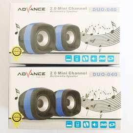 N E W Speaker ADVANCE Duo-40 untuk PC/Laptop/HP Murah Berkualitas