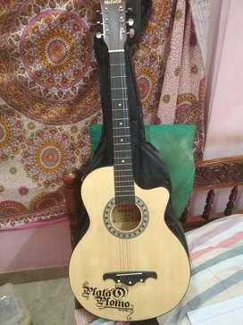 Guitar is brown