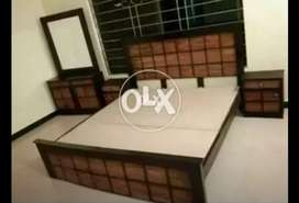 MATT FINISH KING SIZE DOUBLE BED ONLY 13999 ON AL MUSLIM FURNITURE