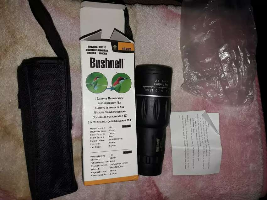 Monocular Bushnell 16x52 Magnification New 0