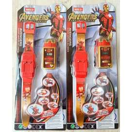Jam Tangan Anak Avengers Iron Man Lampu No.1079