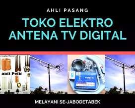 Paket pemasangan antena tv lokal menteng