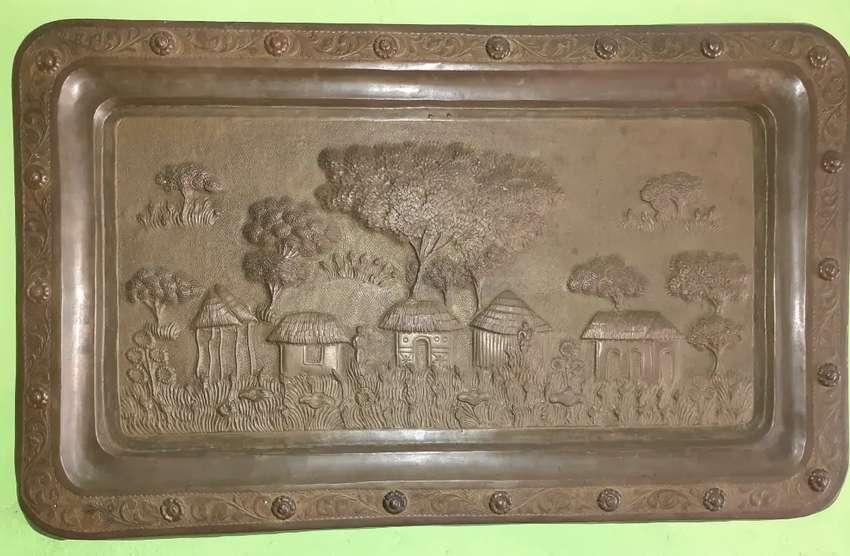 Relief tembaga antik 0