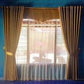 cermin dekorasi Gordeng gorden Korden hunian modern