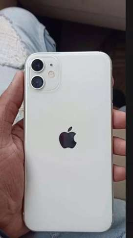 Apple iPhone ( 11+64gb) white colour