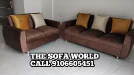3+2 seater sofa with 5 pillows at the low price