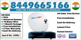Discount@ Tata Sky HD Connection- Airtel DTH Tatasky Dish tv(COD)