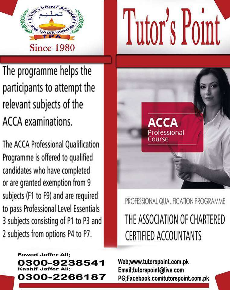 Acca - CA - ICMA - MBA {Best Home Tutors are Available at your  HOME} 0