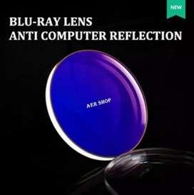 Lensa kacamata anti blue ray komputet/gadget