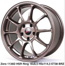 Cicilan Bunga 0% Velg ZERO 1136D HSR R18X85 H5X114,3 ET38 SMBRZ