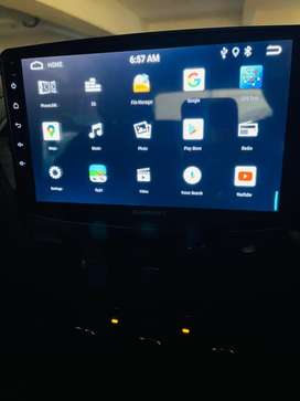 Car android music system with 9 inch screen- one month old