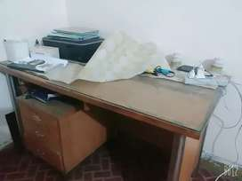 Pure wood  study table with chair urgently sale