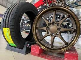 Paket Ban Dunlop+Velg R15x7 et35 H8x100-114.3 •C28 Bronze