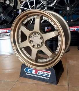 Velg racing bisa buat mobil Xenia vios yaris R17-7.5/8.5 h8-100/114.3