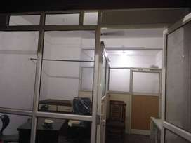 Aluminium frame cabin partition with sliding doors