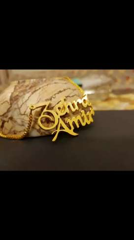 Name Gold plated lockets