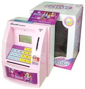 Celengan ATM Mini Friends Mainan Pink Cewek
