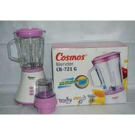 Blender Cosmos CB 721G-pelumat-2in1-basah kering-1.5L-wadah mika-awet