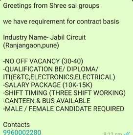 Job job job in BE ENTC, Diploma
