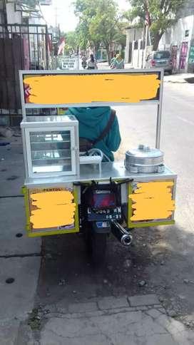 Rombong motor pentol PLUS PERALATAN BARU GRES harga NEGOO KERAS.. !!