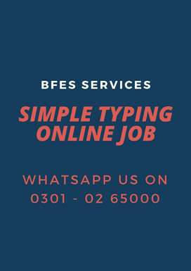 Male s& females can apply for online home base Simple typing jobs dail