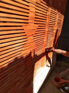 Kulit bambu dan isi bambu dan rotan