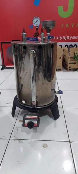 Setrika uap laundry konveksi gas