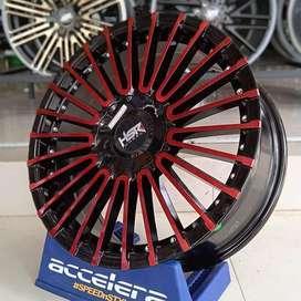 Pelek HSR Amarasi ring 17 lebar 7 pcd 8x100-114,3 black red