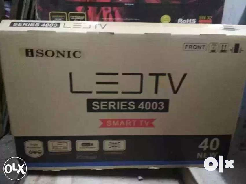 """New isonic 40 """" led TV smart android 1 year 0"""