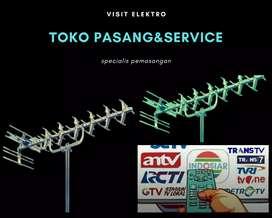 Toko teknik pasang signal antena tv lokal mustika jaya