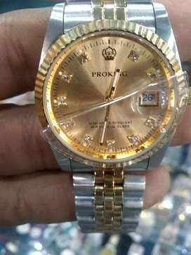 Proking with date stainless steel watch Rolex shapewith delivery
