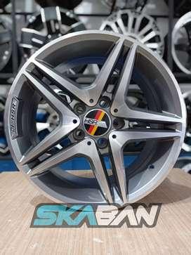 jual hsr wheel ring 16x7,5 h5(112) grey polish di ska ban pekanbaru
