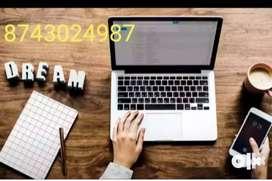 Computer operator job/ pdf to MS- word offline work/home based