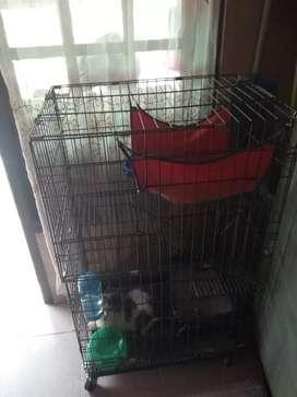 Kandang kucing 3 tingkat