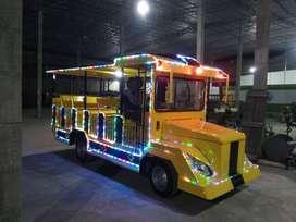 lampu odong EK kereta panggung mini coaster wisata audio sirine
