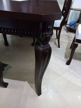 Wooden Dinning Table with Six Chairs