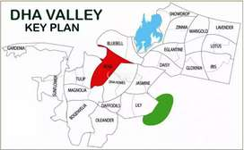 Iris block 8 Marla plot for sale in DHA valley Islamabad open file l