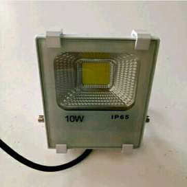 Lampu sorot LED 10 watt  flood light warna putih 10w w tembak pangg