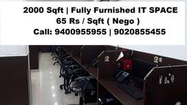 2500 Sqft |  IT SPACE | Fully Furnished Vellayambalam