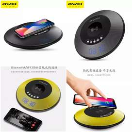 Awei 2 in 1 Speaker Bluetooth Qi Wireless Charger Dock - Black
