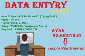 Great Work At Home Opportunity For Data Entry Operators