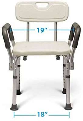 Shower Chair with back support and Height Adjustment